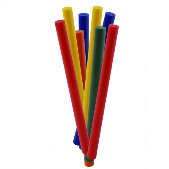 Set 16 baghete adeziv, pentru lipire, colorate, 7 mm