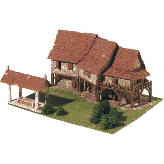 kit macheta din ceramica, casa de la tara