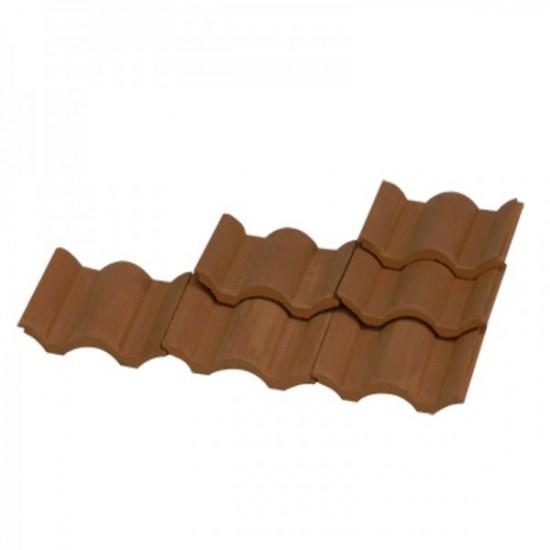 Placi ceramice acoperis, rosu, AedesArs scara 1:10 (100 buc)