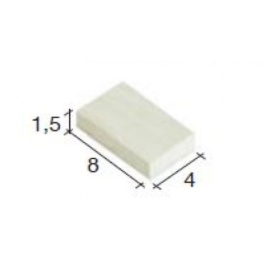 Placi ceramice albe extra small (700u)