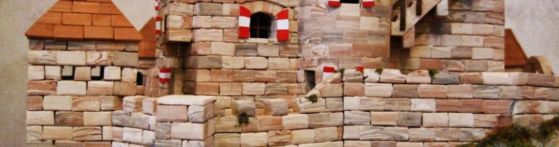 Construiește în miniatură, cărămidă cu cărămidă, castele medievale