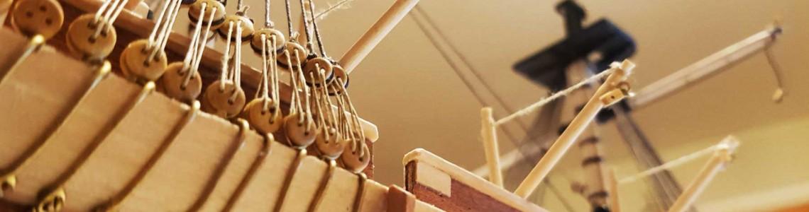 Corabii din lemn cu detalii incredibile