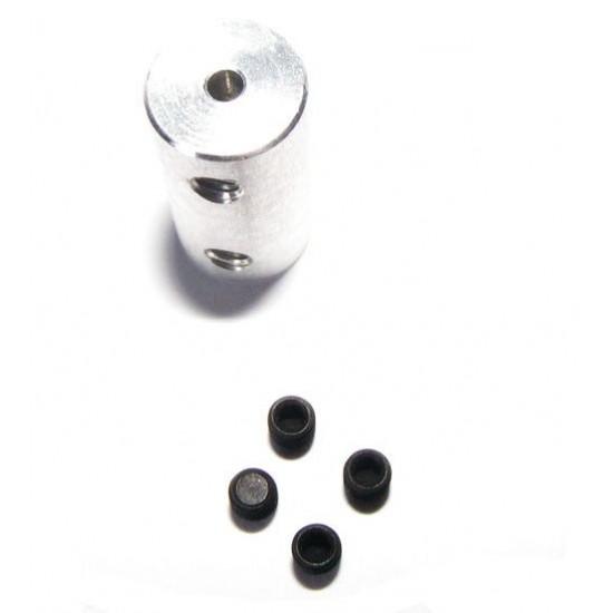 Cuplaj rigid 2,3 la 2 mm pentru navomodele