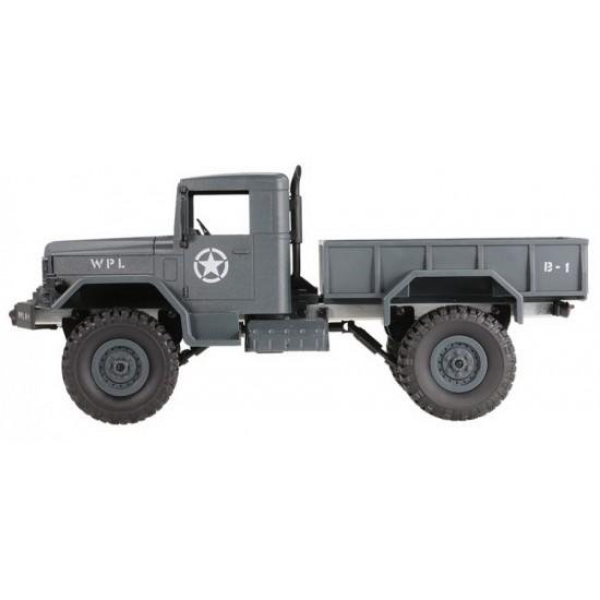 Camion militar cu telecomanda WPL B-14 blue (1:16, 4x4, 2.4G)