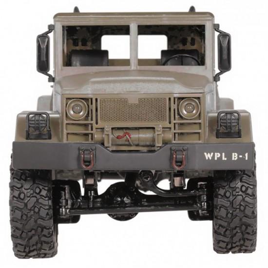 Camion militar cu telecomanda WPL B-14 galben (1:16, 4x4, 2.4G)