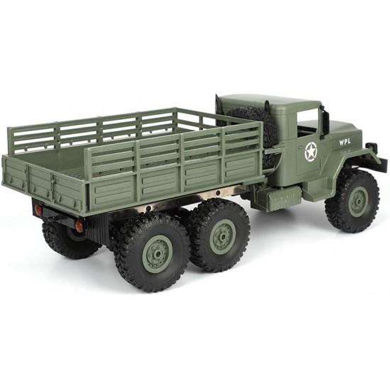 Camion militar cu telecomanda WPL B-16 (1:16, 6x6, 2.4G, LiPo)