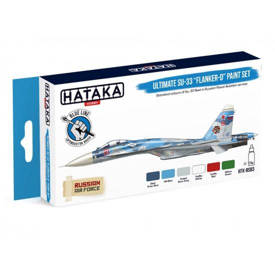 """Set de culori (6 buc.) Ultimate Su-33 """"Flanker-D"""""""
