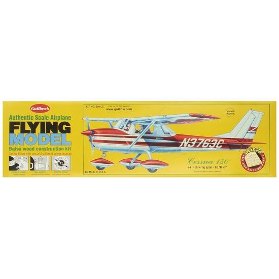 Aeromodel din balsa pentru zbor liber Cessna 150 de la Guillows