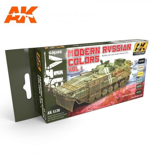 Set de culori pentru vehicule militare rusesti vol 1