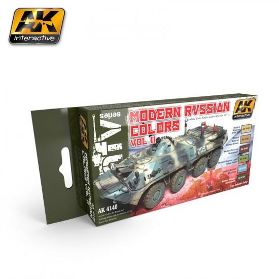 Set de culori pentru vehicule militare rusesti vol 2