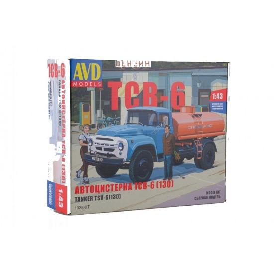 Camion cisterna TSV-6 (ZIL-130), scara 1:43