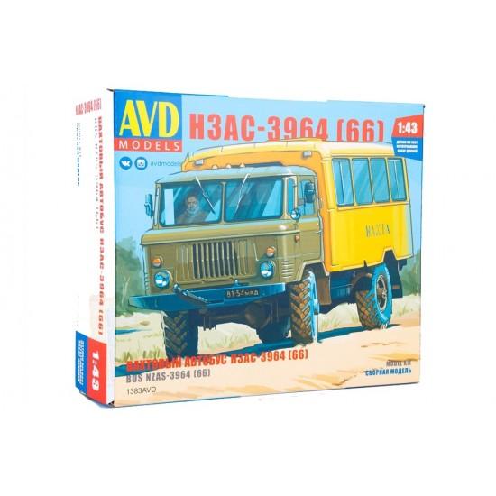 Camion autobuz (Vahta) NZAS-3964 (GAZ-66), scara 1:43