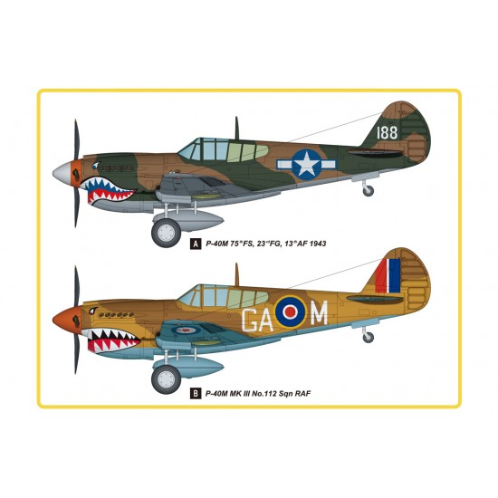 P-40E Kitty Hawk Fighter, scara 1:48