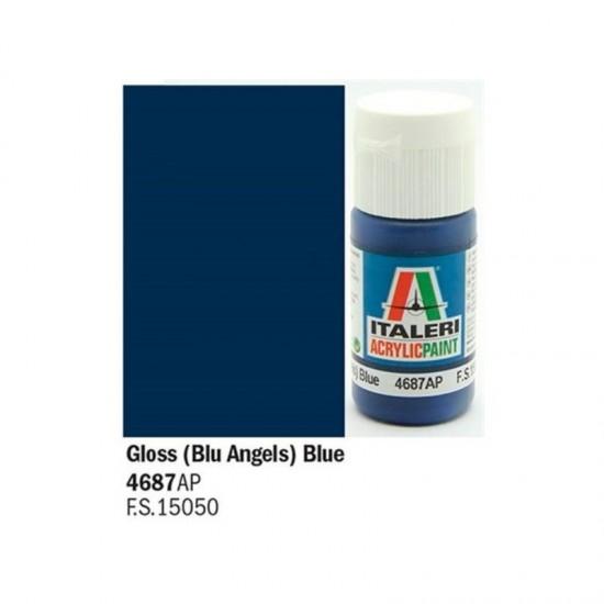Vopsea acrilica albastru gloss 20ml.