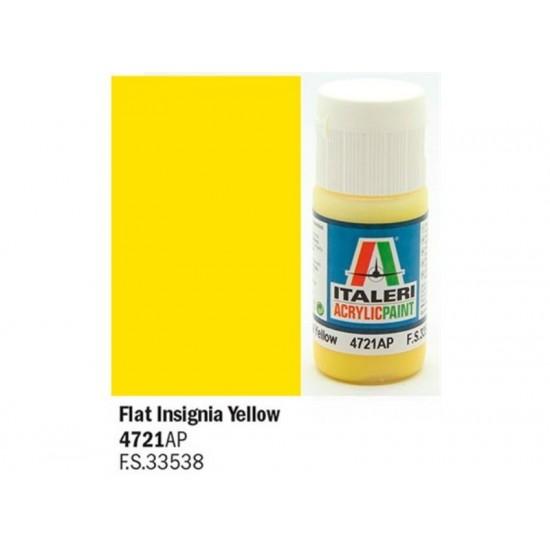 Vopsea acrilica galben insignia 20ml.