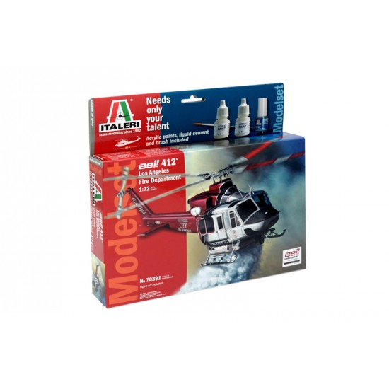 Elicopter BELL 412 Los Angeles City Fire, scara 1:72