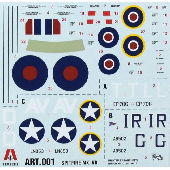 Avion Spitfire MK.VB, scara 1:72