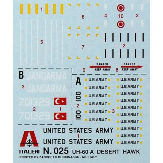 Elicopter UH 60 Desert Hawk, scara 1:72