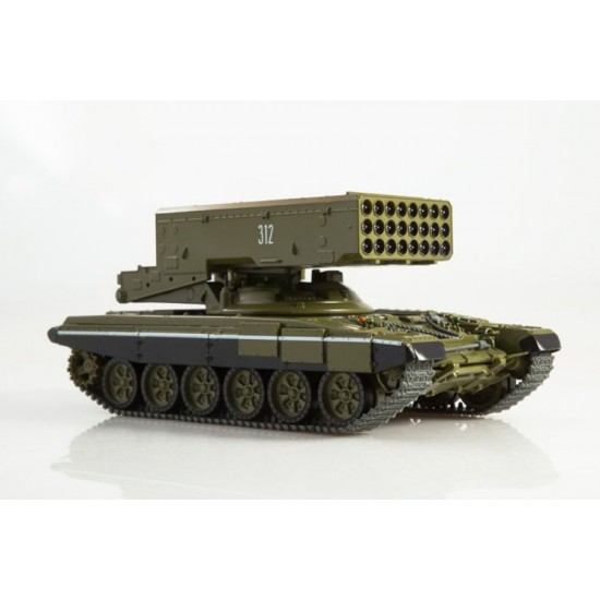 "Macheta tanc T-90 TOS-1A ""Blazing Sun"" scara 1:43"