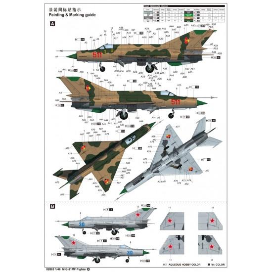 MiG-21MF Fighter scara 1:48