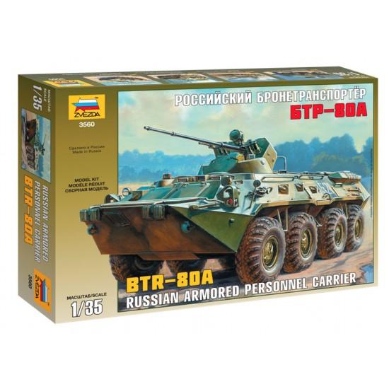 Transportor blindat rusesc BTR-80A, scara 1:35