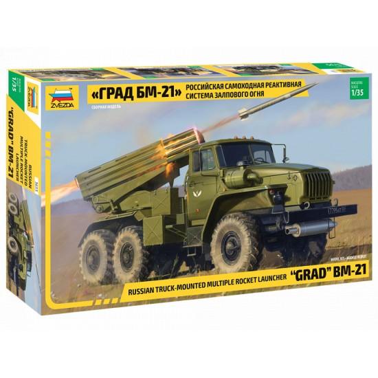 Camion lansator rachete BM-21, scara 1:35