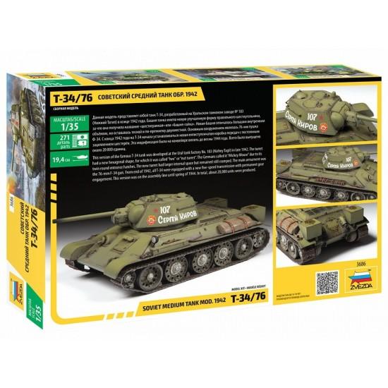 Tancul sovietic T34/76, scara 1:35
