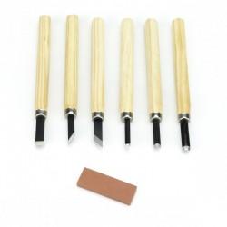 Set 6 dalti mici pentru lemn si piatra de ascutire