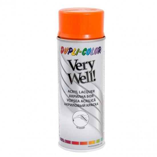 VERY WELL Vopsea spray decorativă, portocaliu pur, RAL2004, 400ml