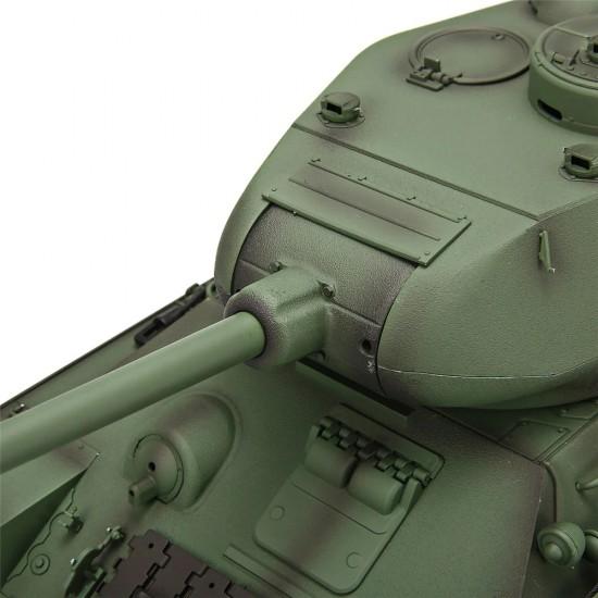Tanc Radiocomandat Rusesc T34 cu sistem de tragere airsoft, sunet si fum 1:16