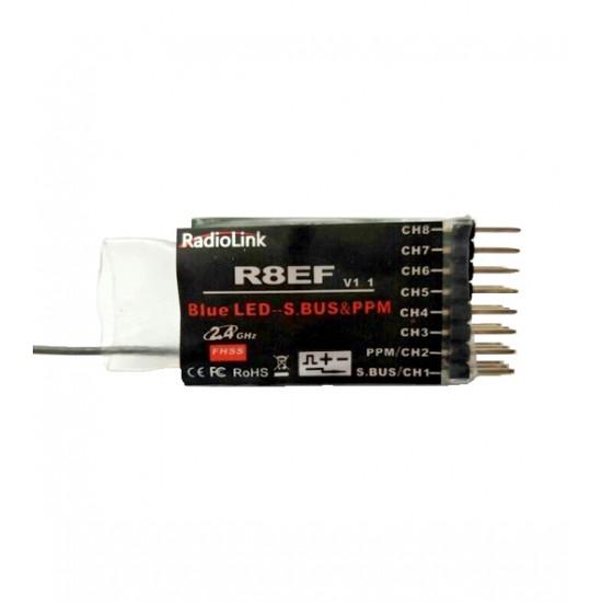 Radiocomanda T8S BT RadioLink 8 canale 2.4 GHz cu receptor R8EF
