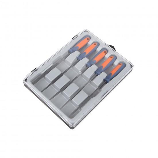 Set 5 pile pentru plastic, metal si lemn