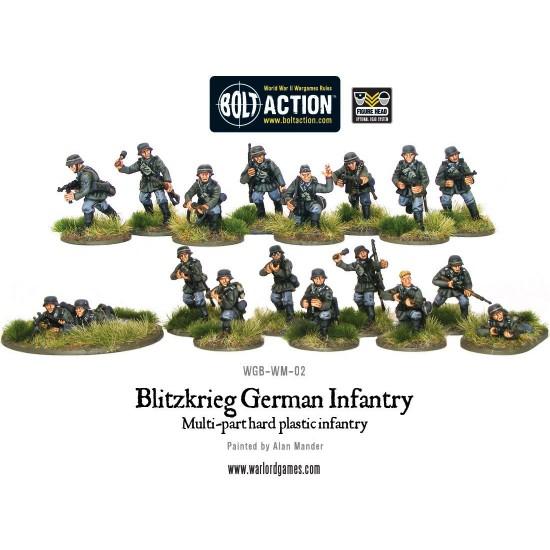Blitzkrieg - infanteristi germani, set figurine plastic