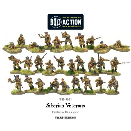 Figurine 28mm, Set de veterani siberieni