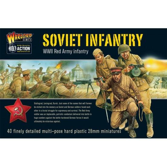 Infanteristi sovietici, figurine de 28mm in set de asamblat