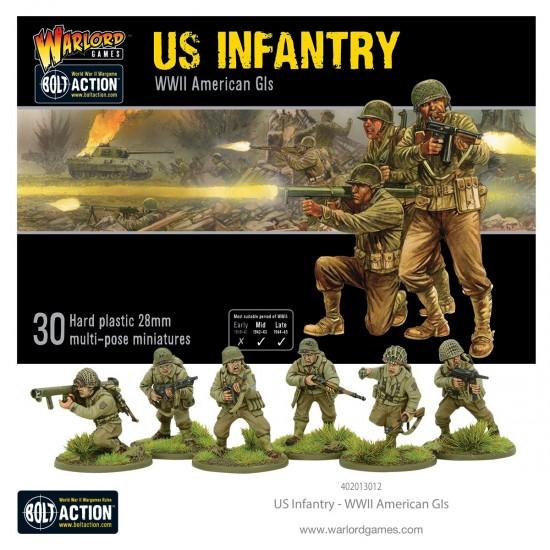 Figurine 28mm, Set de infanteristi americani