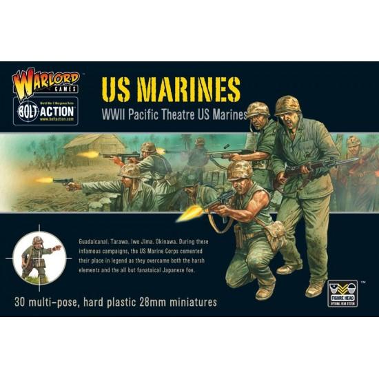 Figurine 28mm, Set de pușcasi marini americani